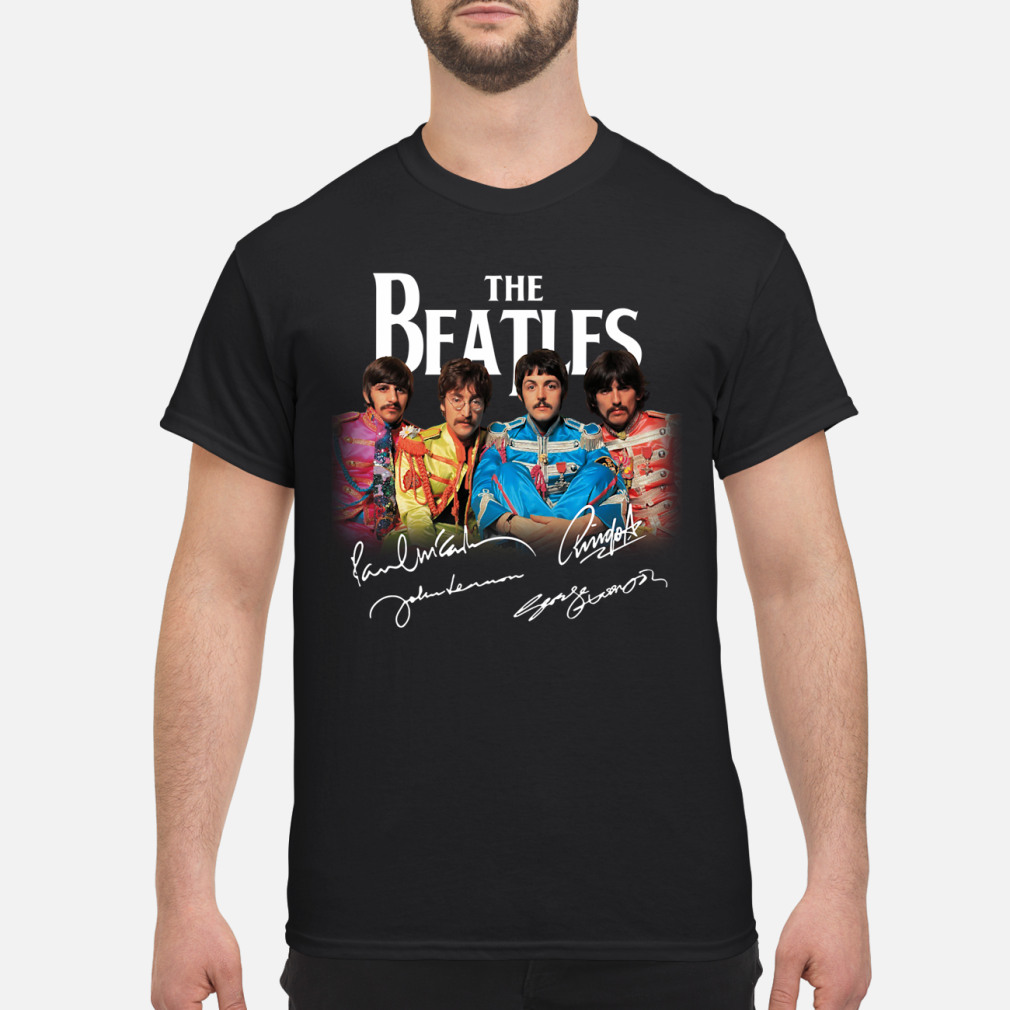 The Beatles St Peppers Lonely Hearts Club Men/'s Black T-Shirt Size S to 3XL