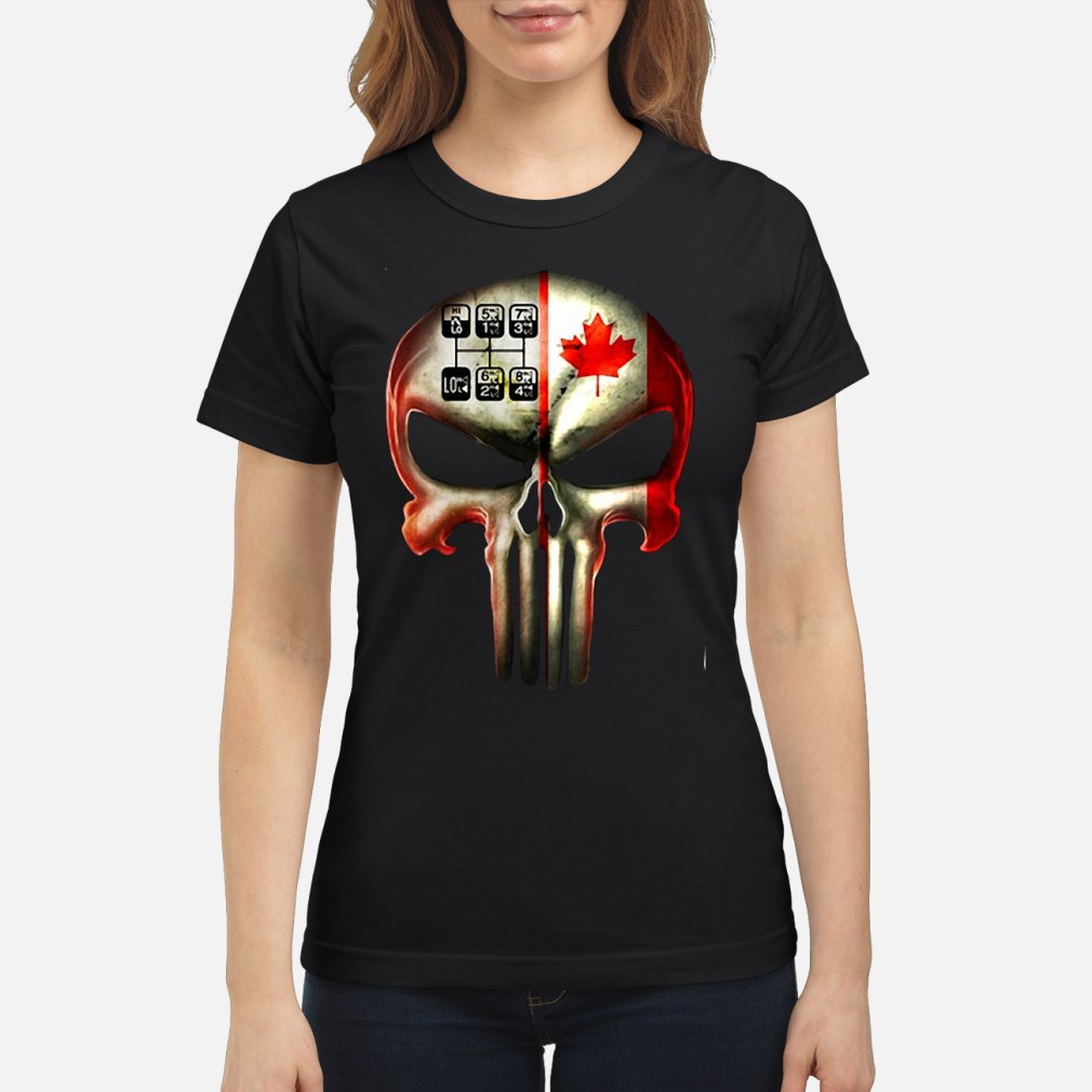 18 speed skull shirt ladies tee