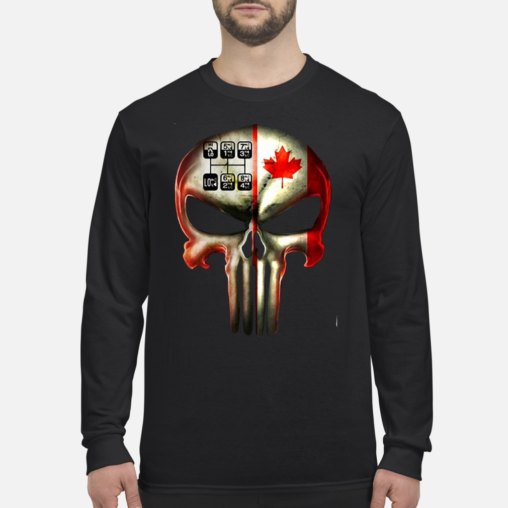 18 speed skull shirt Long sleeved