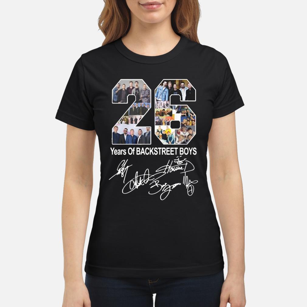 26 years of backstreet boy ladies shirt ladies tee
