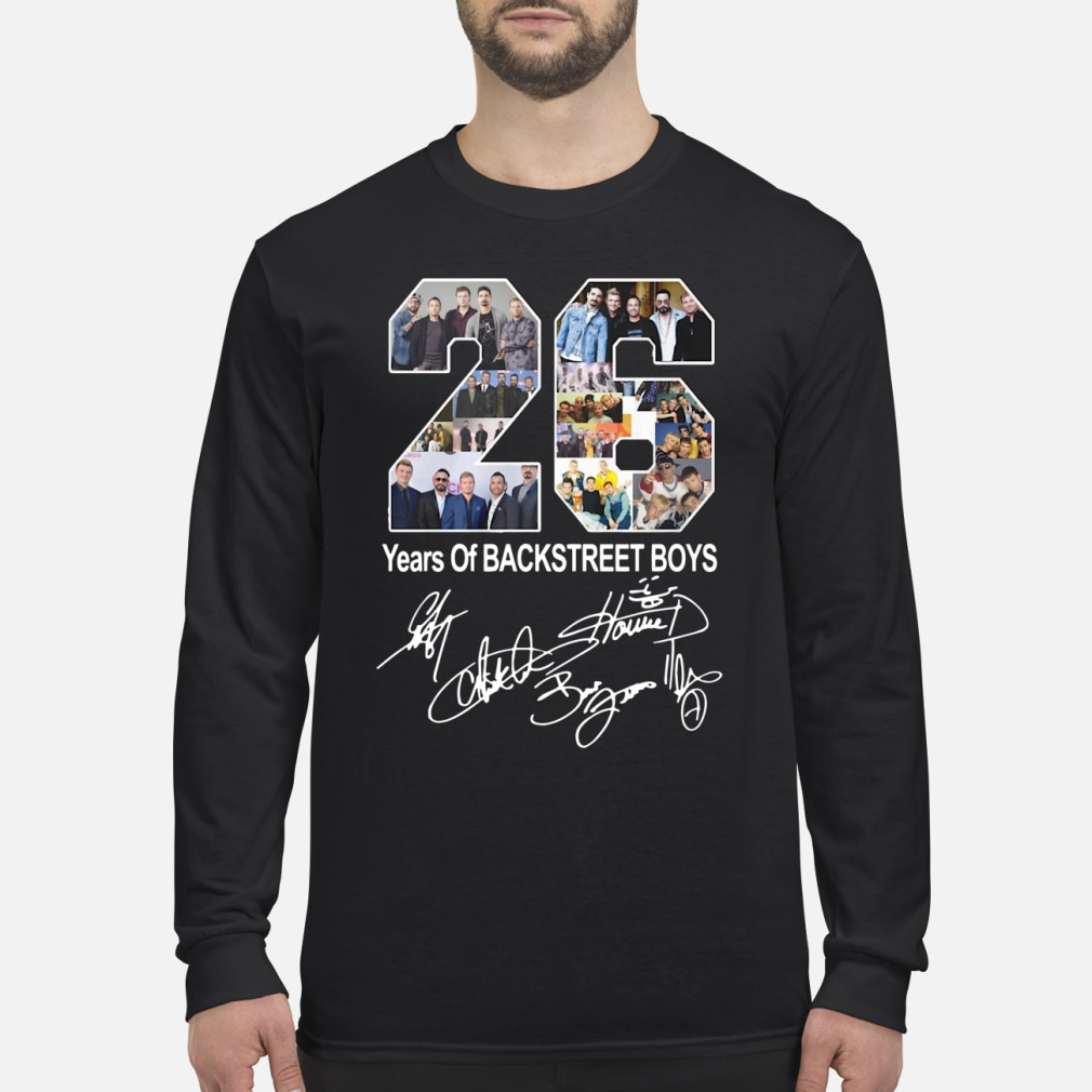 26 years of backstreet boy ladies shirt Long sleeved