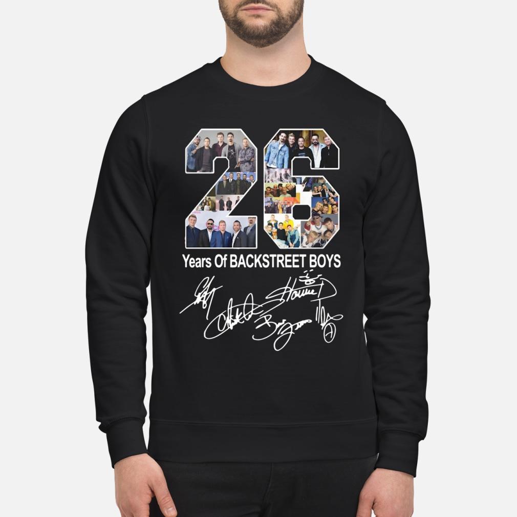 26 years of backstreet boy ladies shirt sweater