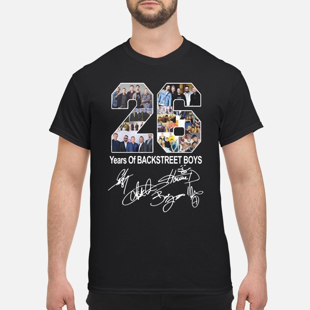 26 years of backstreet boy ladies shirt