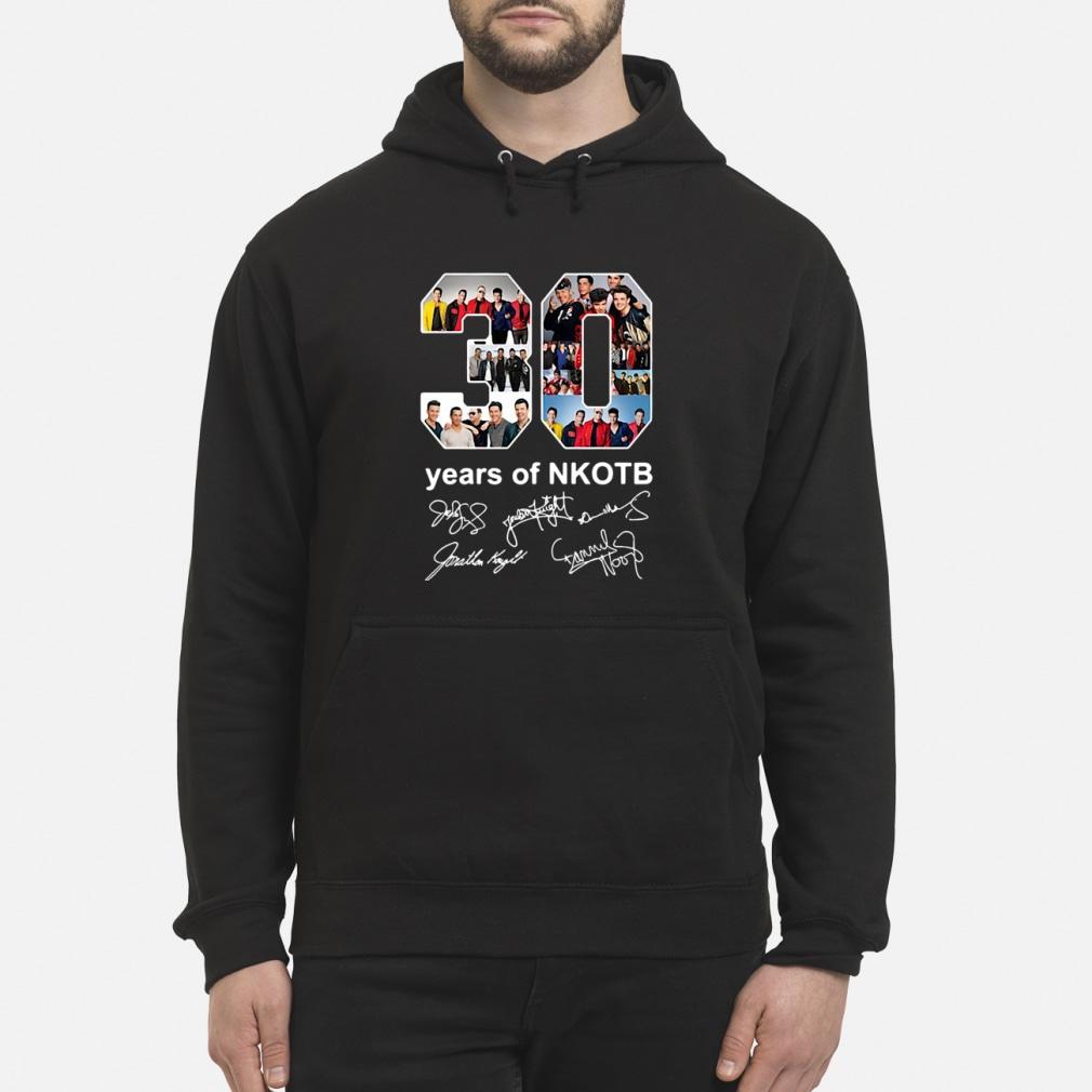 30 years of NKOTB sgnatures shirt hoodie