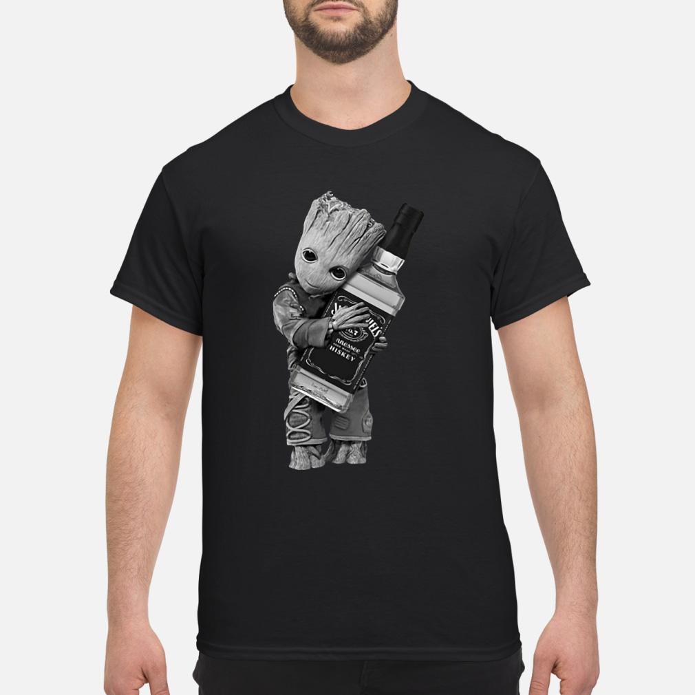 Baby Groot hug Jack Daniel's tennessee ladies shirt