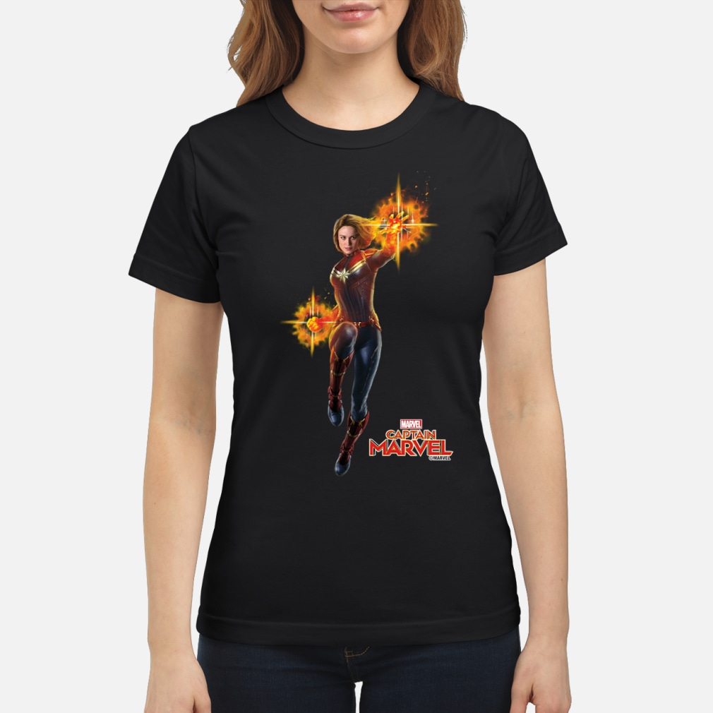 Captain Marvel punch shirt ladies tee