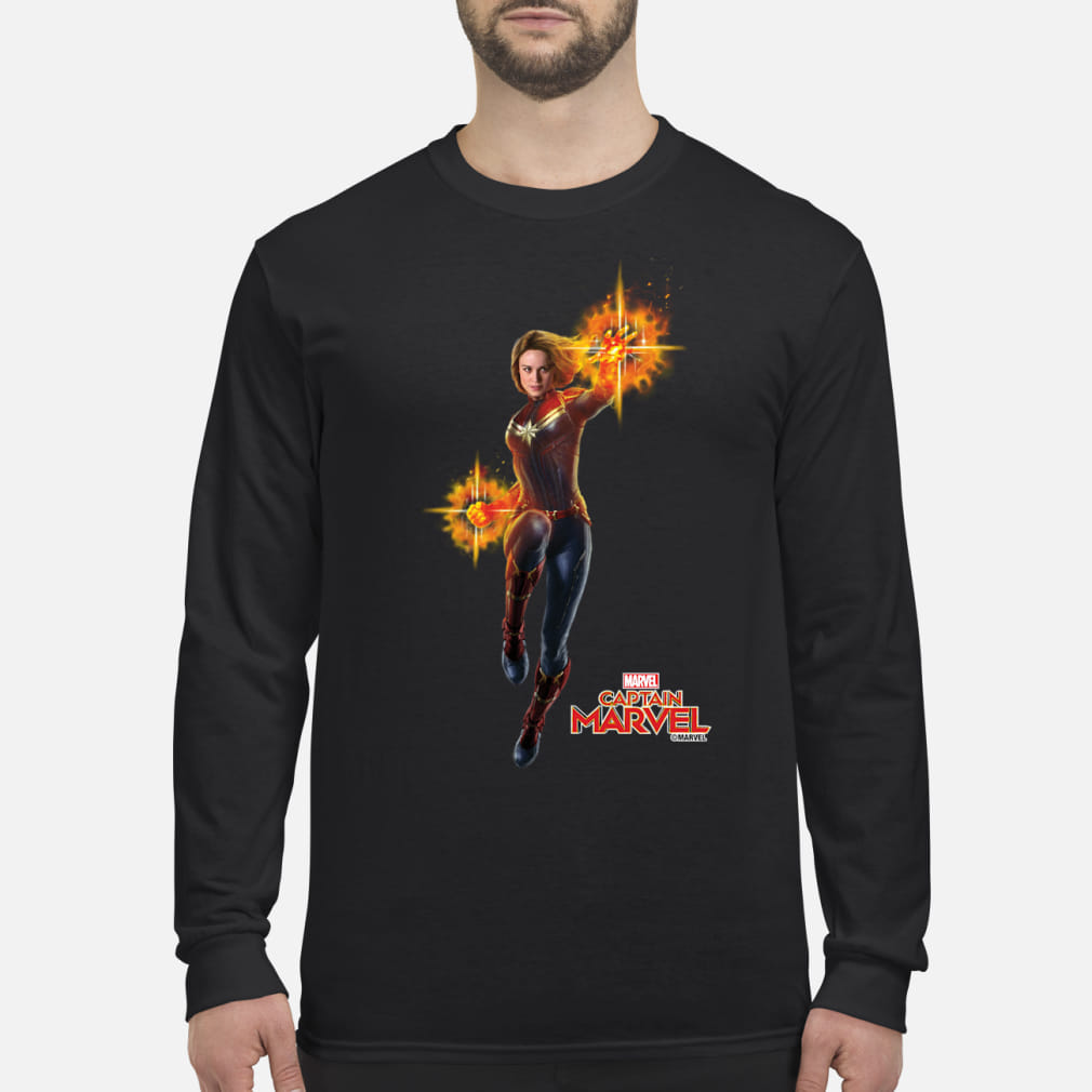 Captain Marvel punch shirt Long sleeved
