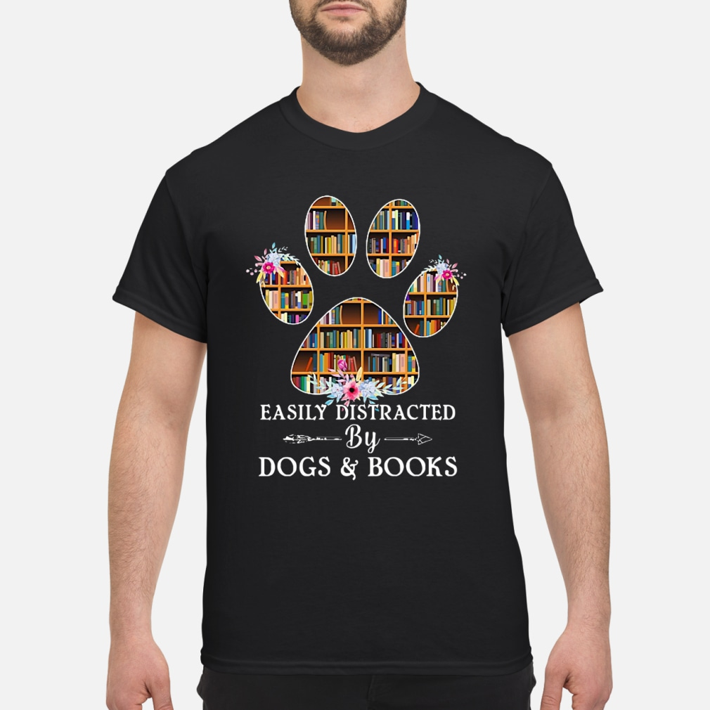 Easily distracted by dogs kid shirt