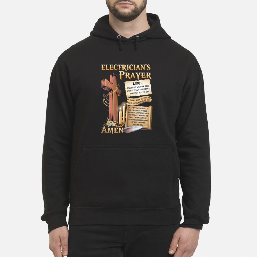 Electrician's Prayer Amen Shirt hoodie