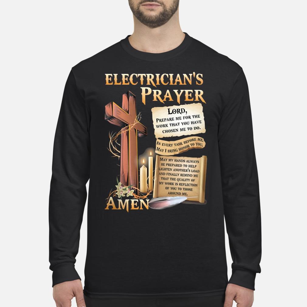 Electrician's Prayer Amen Shirt Long sleeved