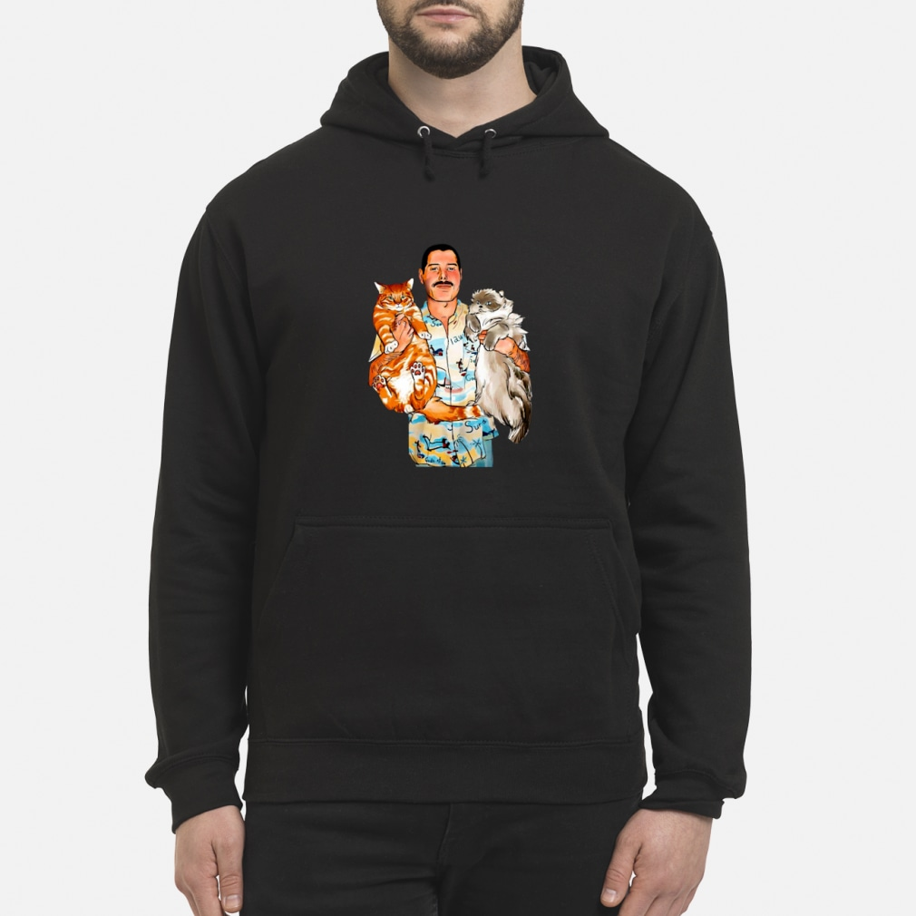Freddie Mercury With His Cats Shirt hoodie