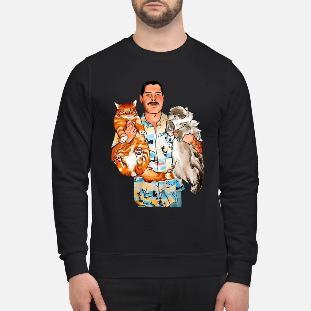 Freddie Mercury With His Cats Shirt sweater