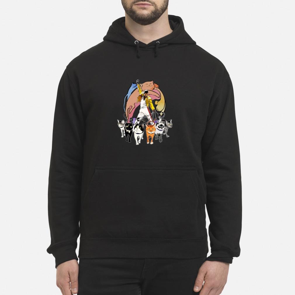 3db78f36eeffa Freddie Mercury and his Cats ladies shirt hoodie Hoodie