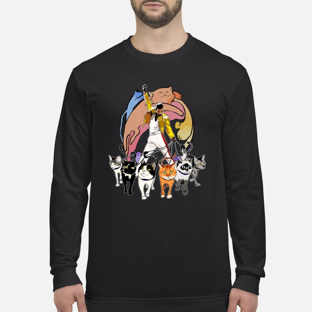 233897d0bf988 Freddie Mercury and his Cats ladies shirt long sleeved