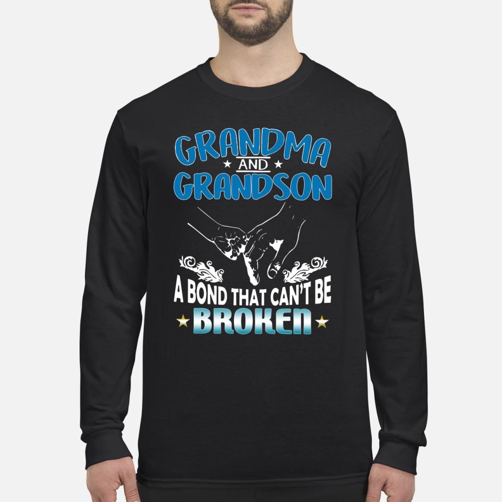 Grandma and grandson a bond that can't be broken shirt Long sleeved