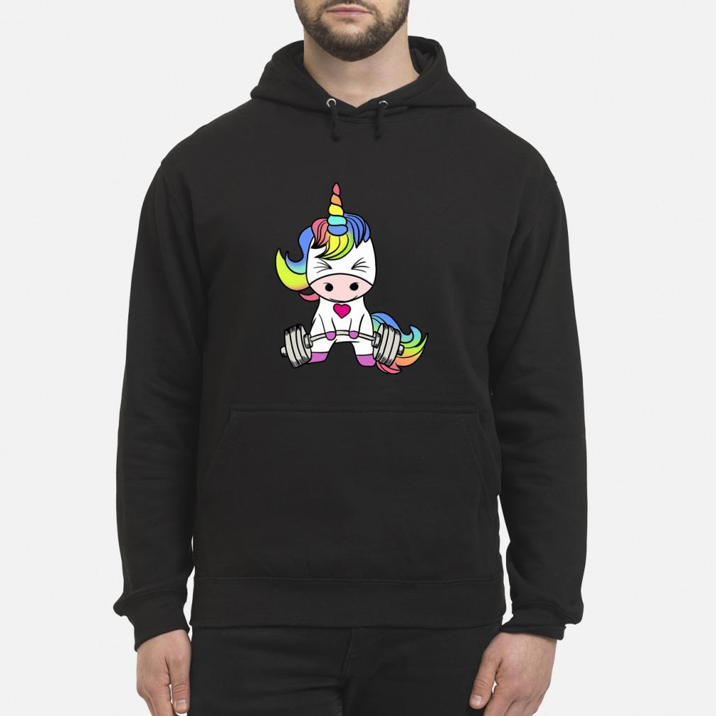 LGBT Unicorn weightlifting shirt hoodie