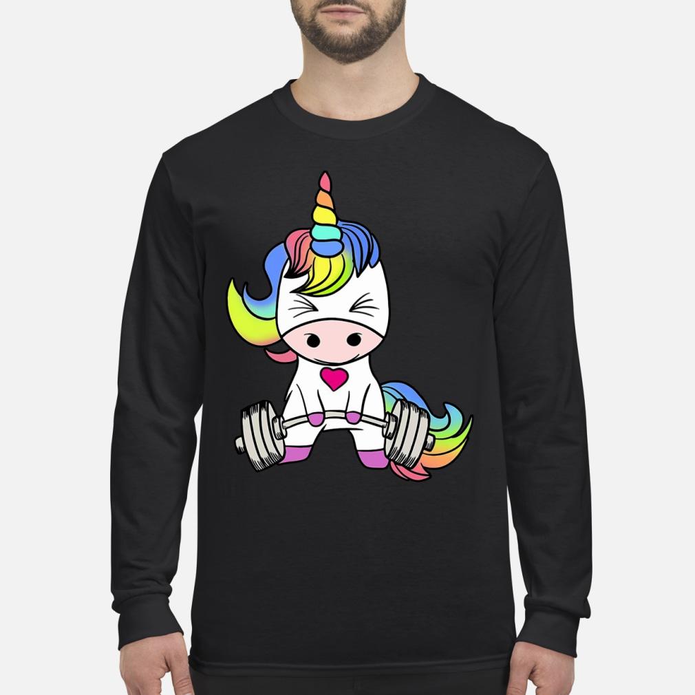 LGBT Unicorn weightlifting shirt Long sleeved