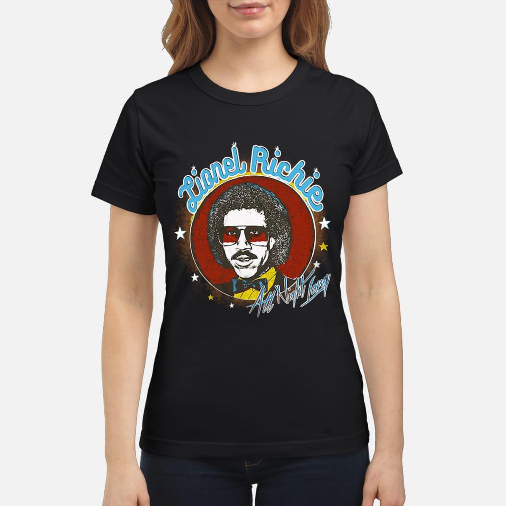 Lionel Richie All Night Shirt ladies tee