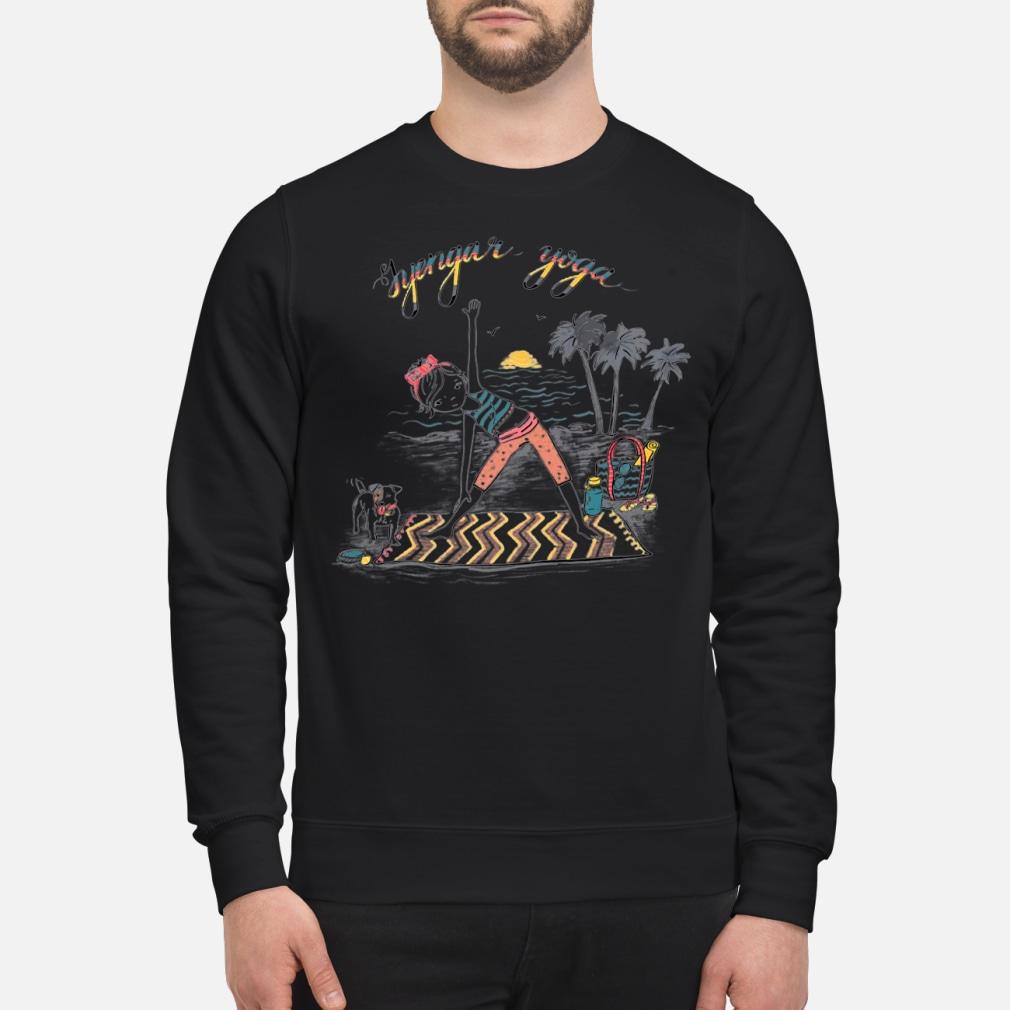 Lyengar yoga girl shirt sweater