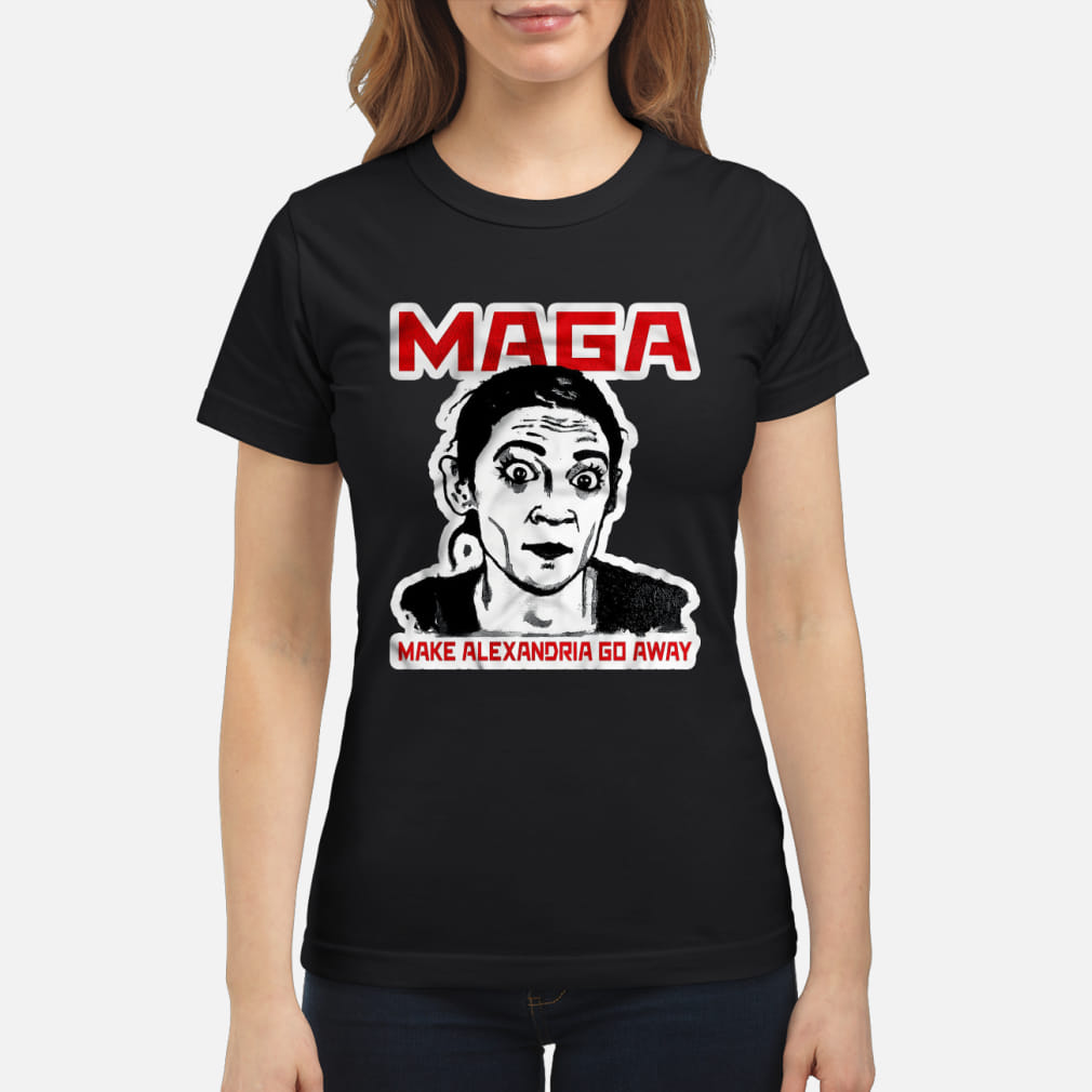 Maga make Alexandria go away kid shirt ladies tee