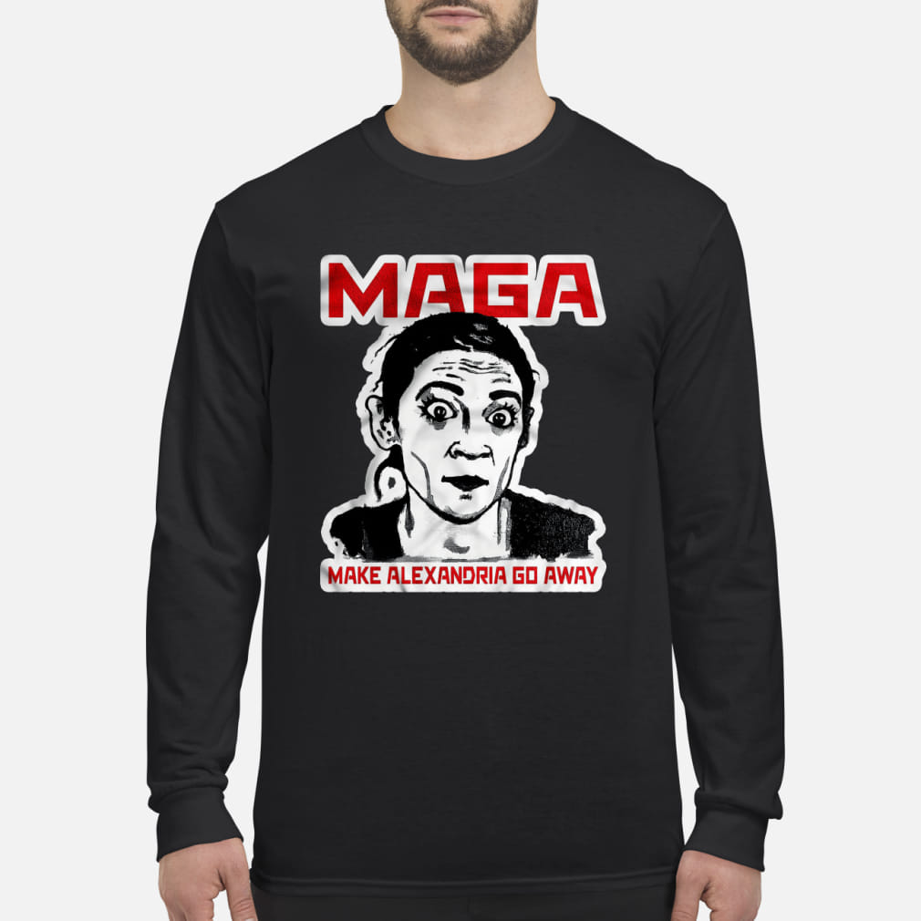 Maga make Alexandria go away kid shirt Long sleeved