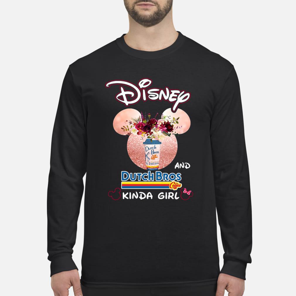 Mickey Mouse Disney and coffee kinda girl kid shirt Long sleeved