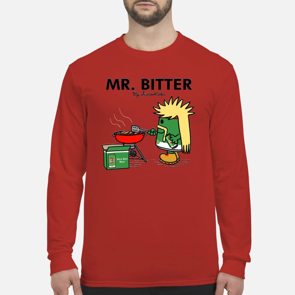 Mr Bitter cooking very best beer ladies tee shirt Long sleeved
