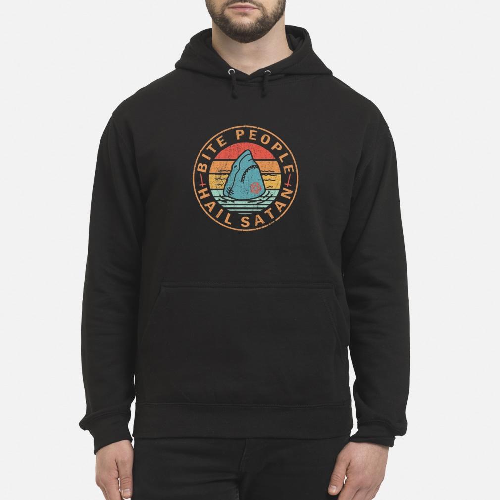 OFFICIAL Shark Bite people hail satan shirt hoodie