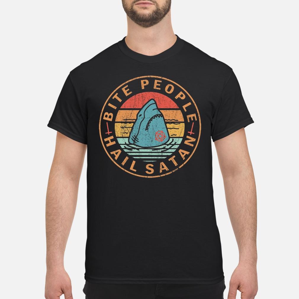 OFFICIAL Shark Bite people hail satan shirt