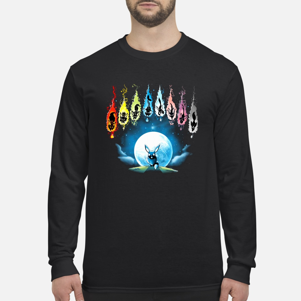 Pokemon Eevee Evolution shirt Long sleeved