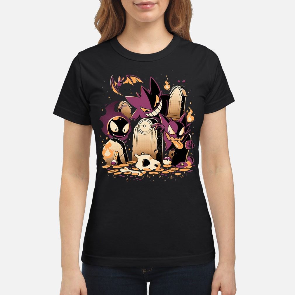 Pokemon Gastly Haunter and Town kid shirt ladies tee
