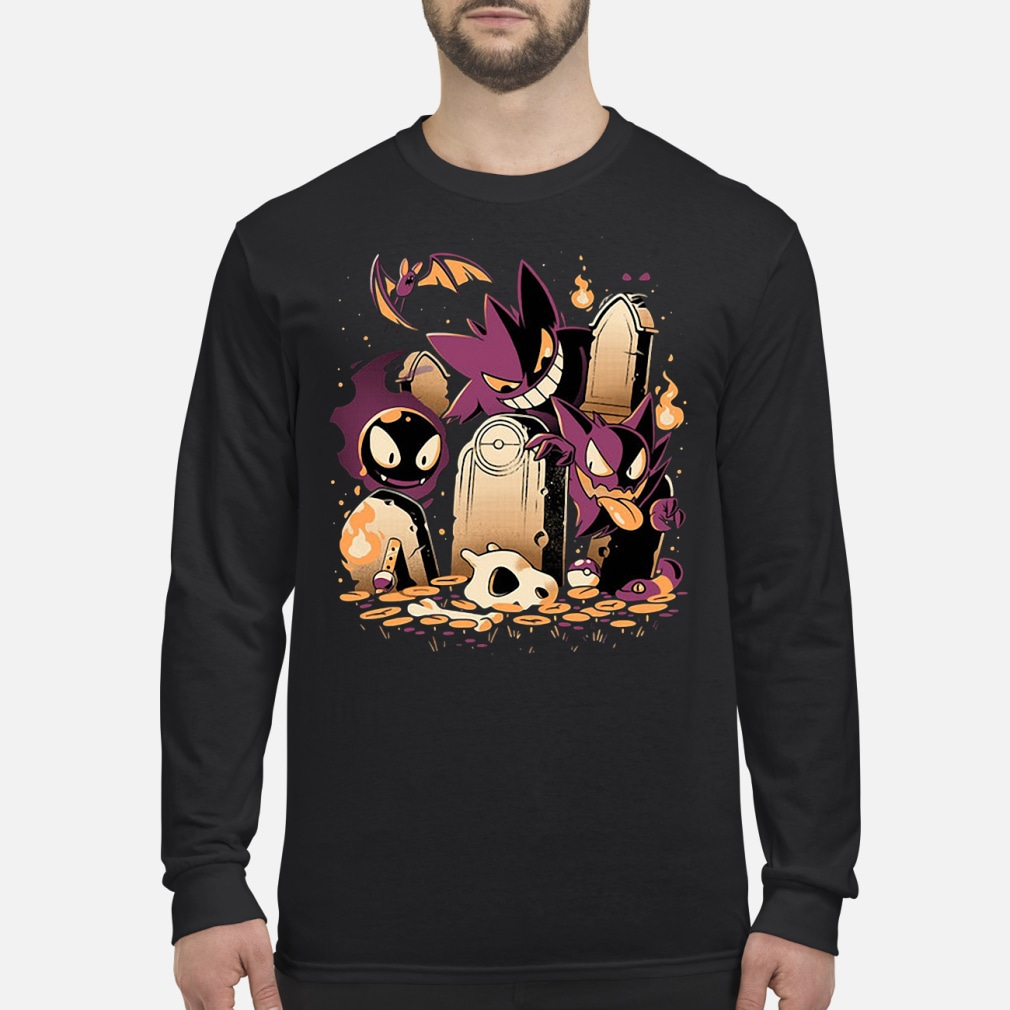 Pokemon Gastly Haunter and Town kid shirt Long sleeved