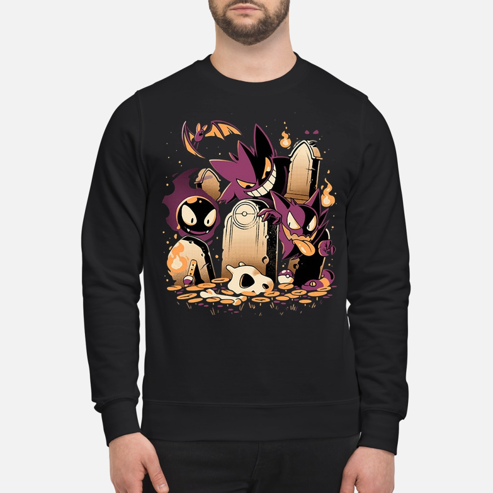 Pokemon Gastly Haunter and Town kid shirt sweater