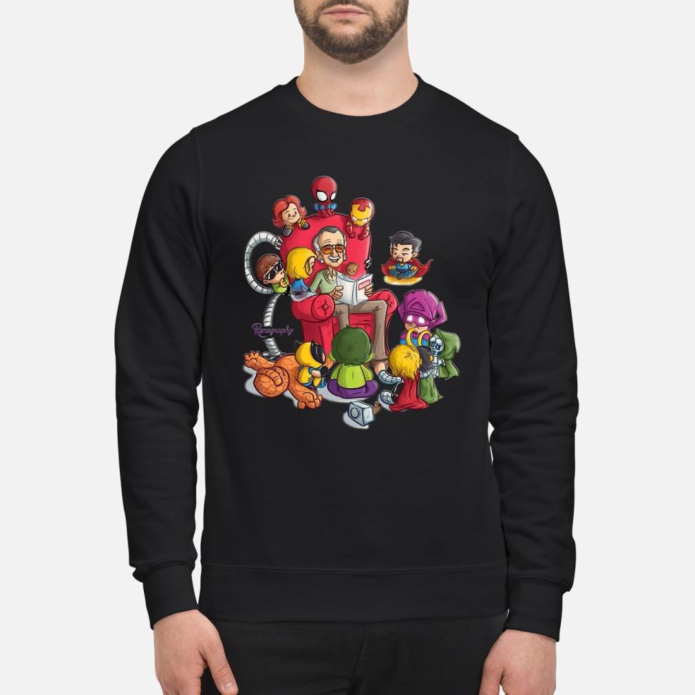 Stan Lee and Superhero Renography tank top shirt sweater