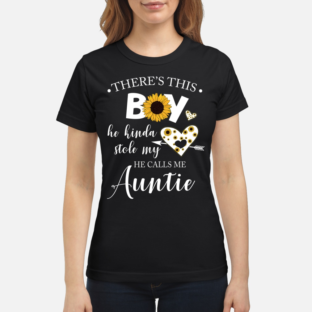 There is this boy he kinda stole my heart he kid shirt ladies tee