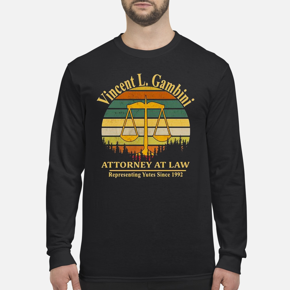 Vincent L.Gambini attorney at law representing kid shirt Long sleeved
