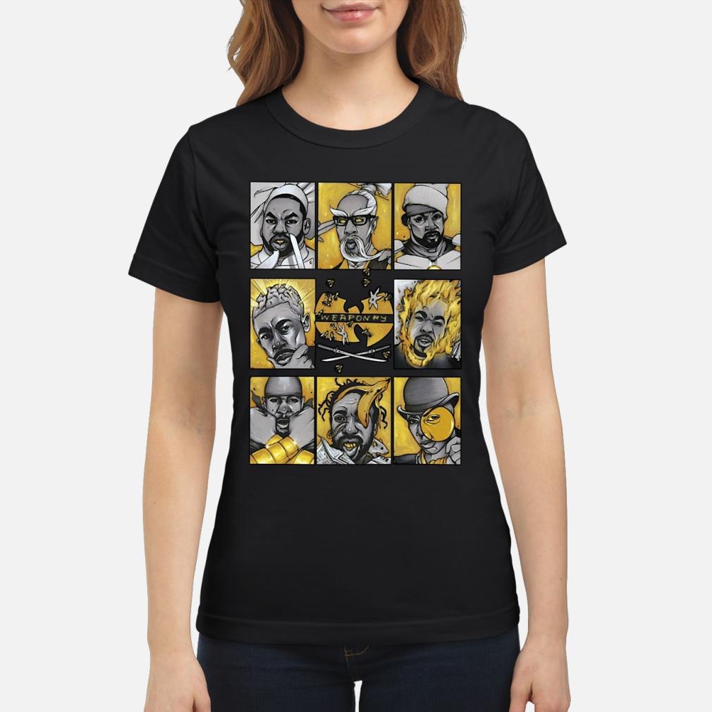 Wu-Tang Clan Hiphop Weaponry Shirt Hoodie ladies tee