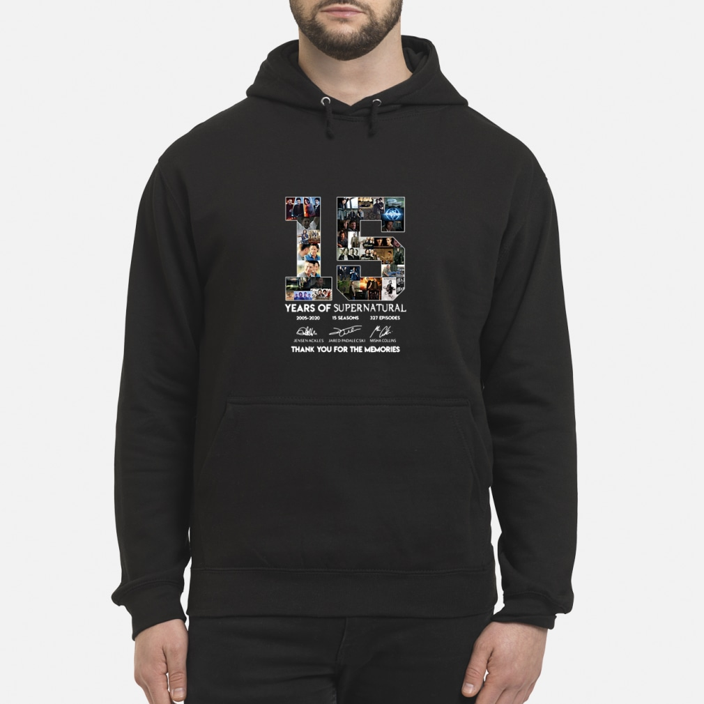 15 years of supernatural thenks you for the memories shirt hoodie