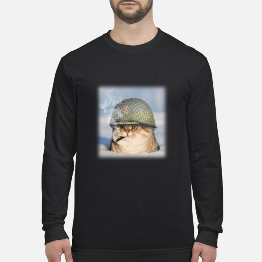 20190427107 War Cat Shirt long sleeved