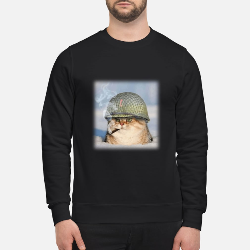 20190427107 War Cat Shirt sweater