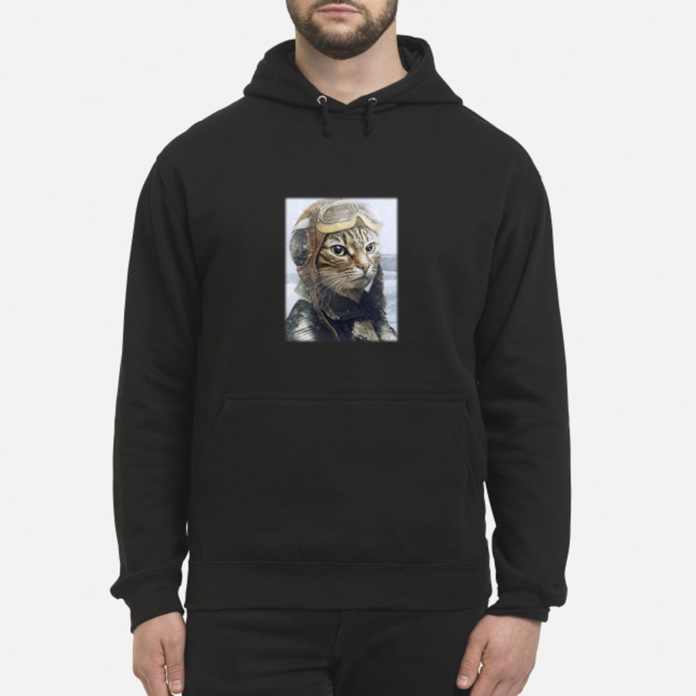 2019042790 Cat Pilot Shirt hoodie