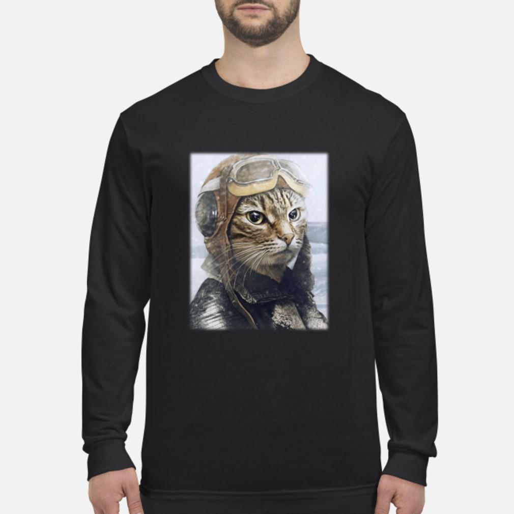 2019042790 Cat Pilot Shirt Long sleeved