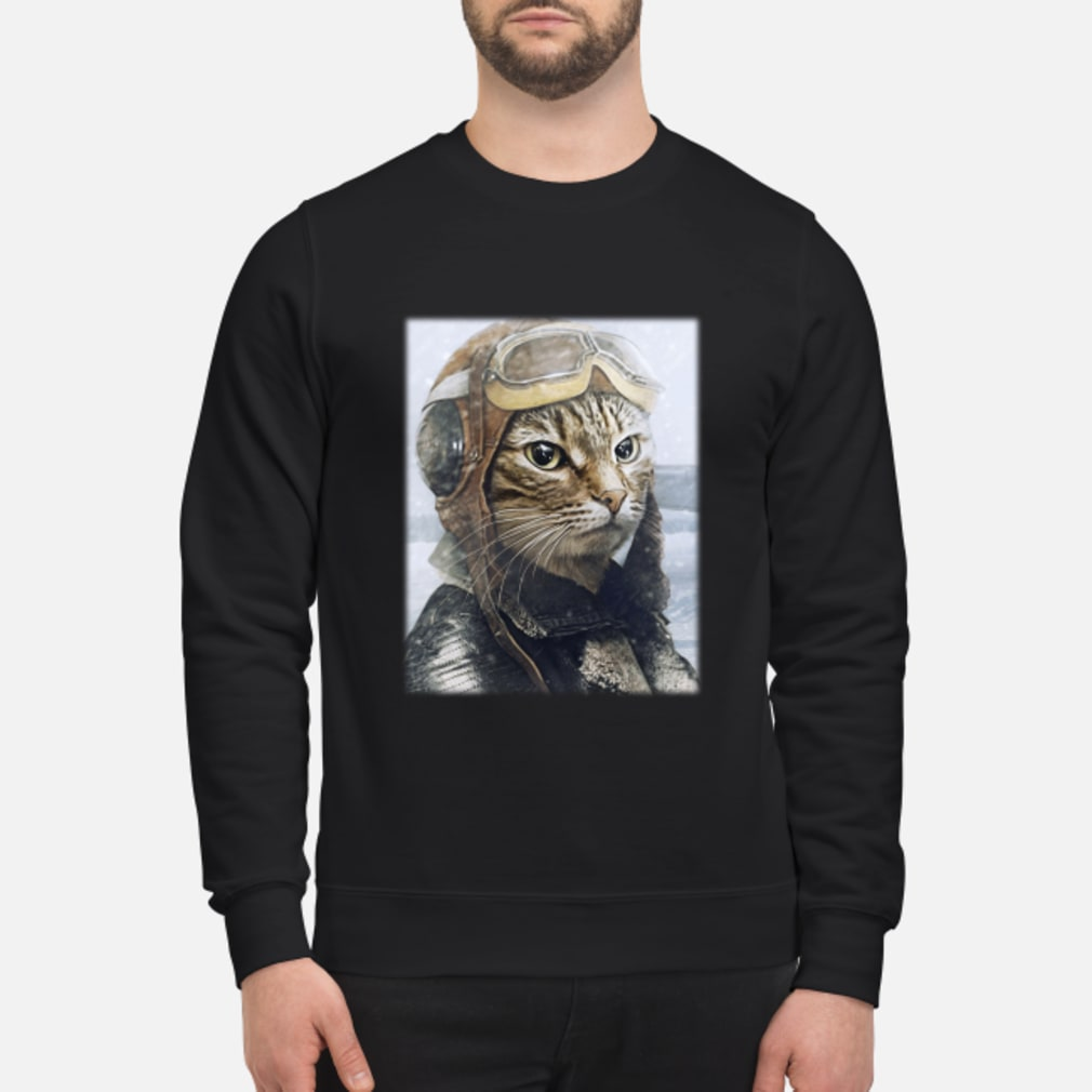 2019042790 Cat Pilot Shirt sweater