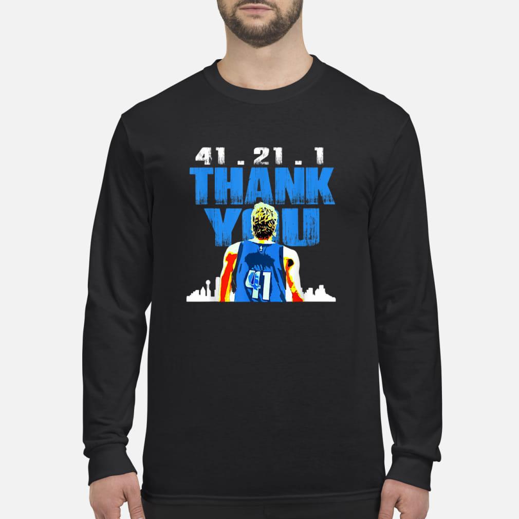41.21.1 thank you Retirement baketball art fan ladies shirt Long sleeved