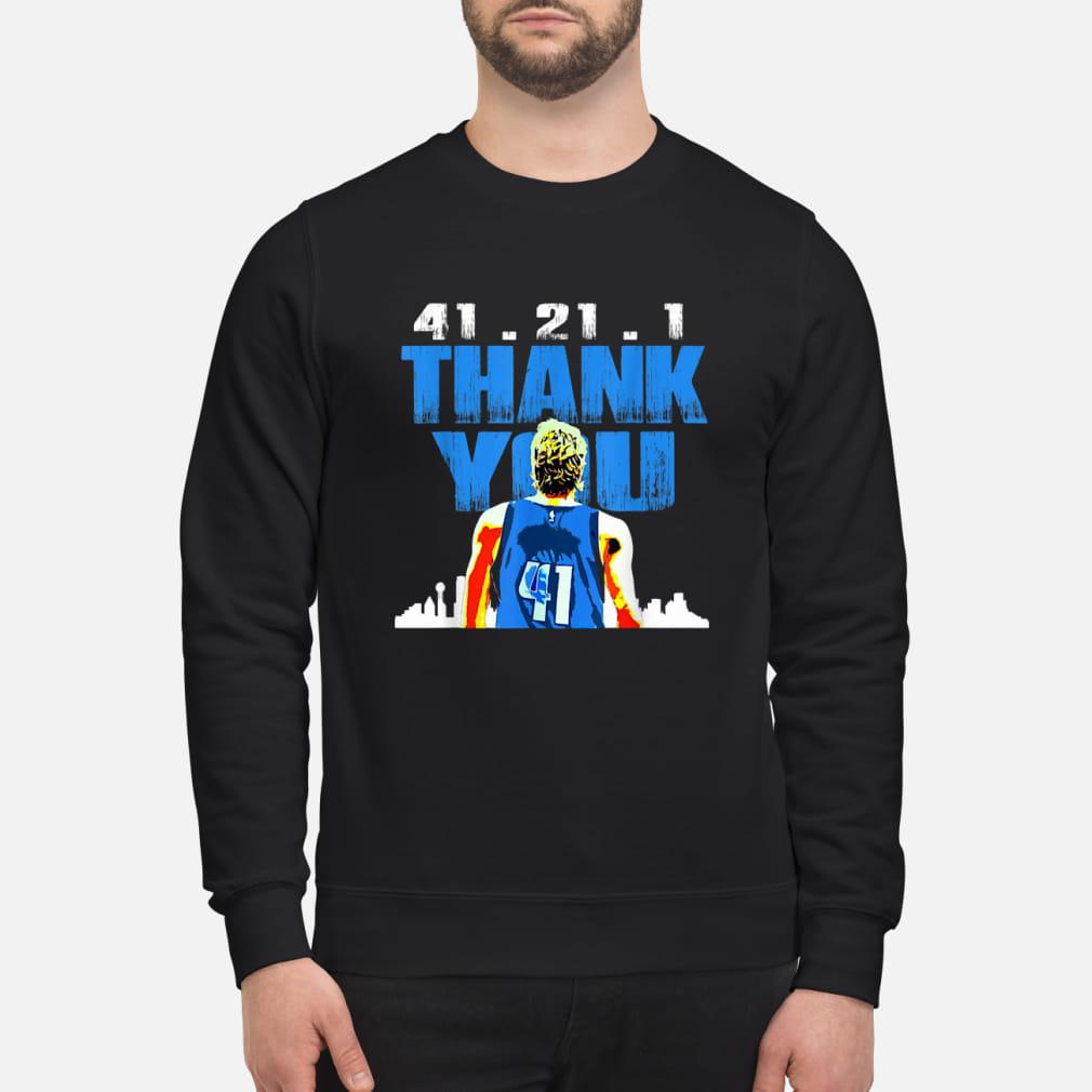 41.21.1 thank you Retirement baketball art fan ladies shirt sweater