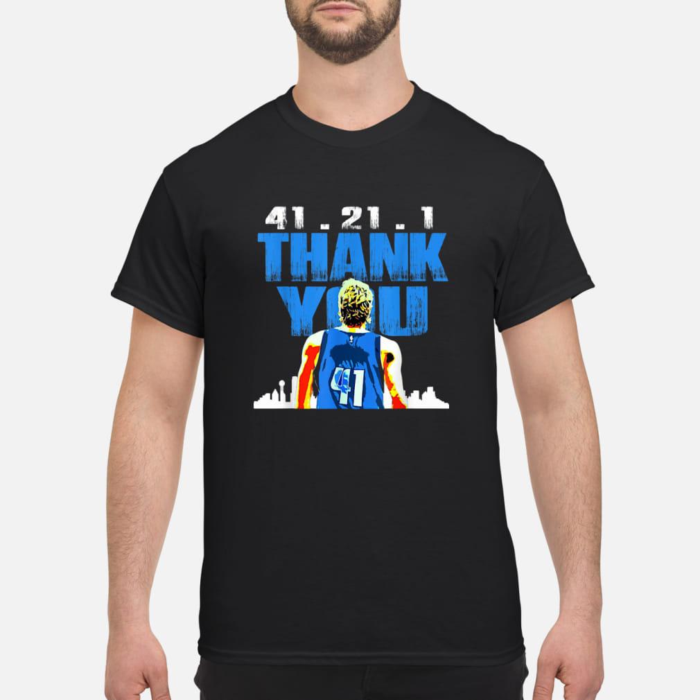 41.21.1 thank you Retirement baketball art fan ladies shirt