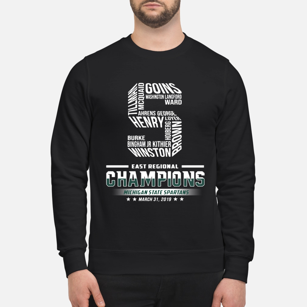5 east regional champions Michigan State Spartans shirt sweater