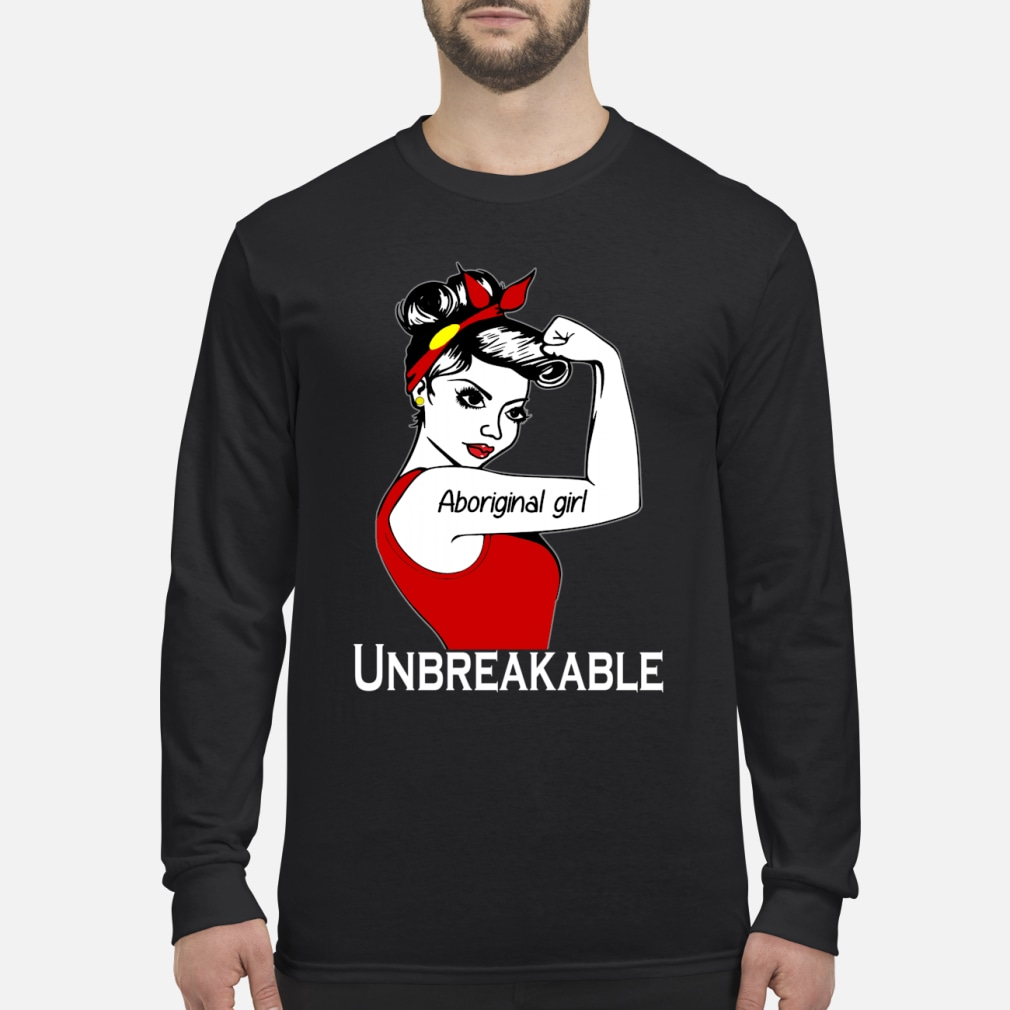 Aboriginal girl unbreakable ladies shirt Long sleeved