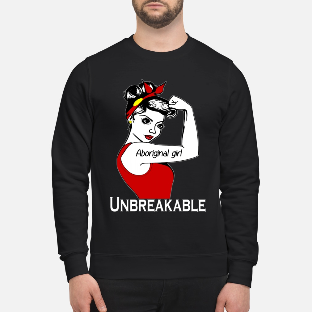Aboriginal girl unbreakable ladies shirt sweater