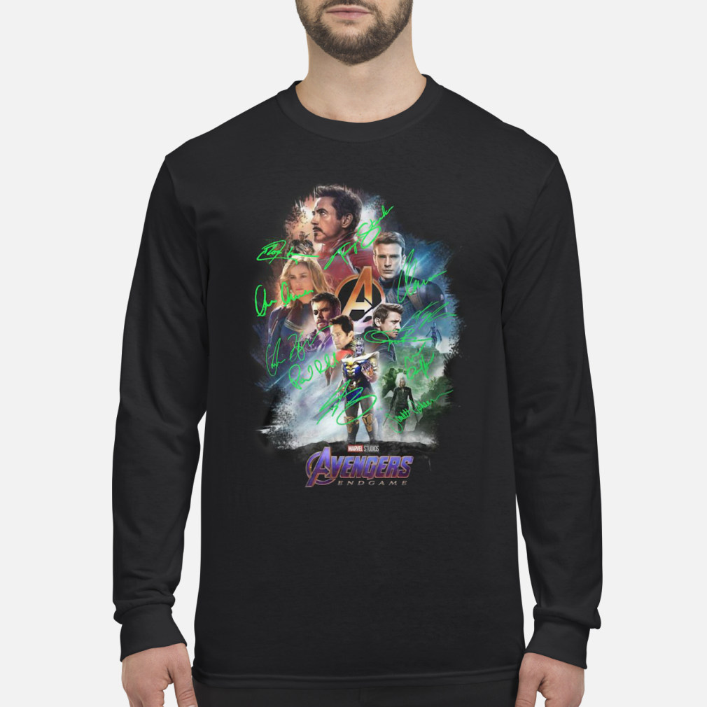 Avenger endgame poster gnature shirt Long sleeved